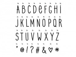 Lightboxzubehör - Alphabet (Handschrift) - schwarz