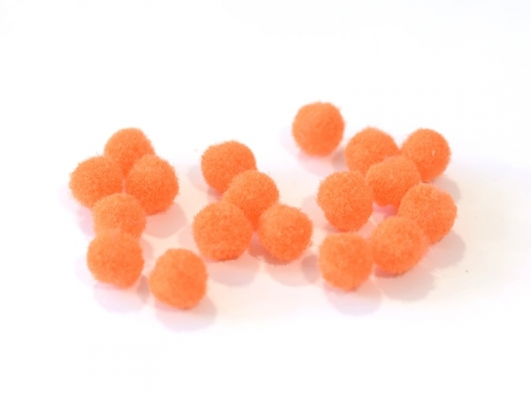 Pompon orange fluo - 12 mm
