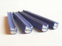 Cane Hello Kitty bleue- en pâte fimo - à trancher