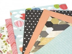 Scrapbooking paper - baby/pink zigzag pattern