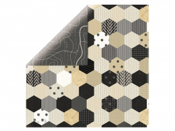 Feuille de scrapbooking - hexagone / plan