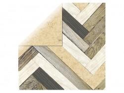 Scrapbooking paper - parquet/cork
