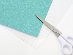 Scrapbooking paper - green glitter