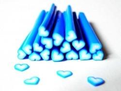 Cane coeur bleu foncé dégradé  - 1