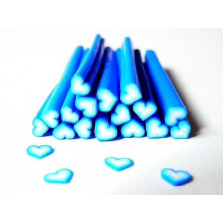 Heart cane - dark blue shaded
