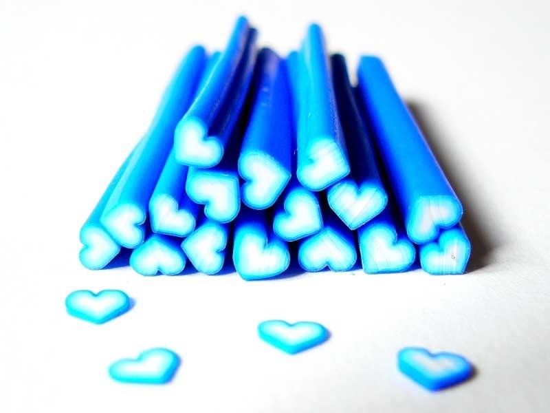 Acheter Cane coeur bleu foncé dégradé - 0,99€ en ligne sur La Petite Epicerie - Loisirs créatifs