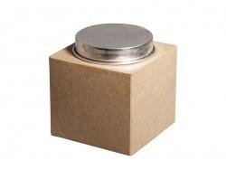 Une boîte en papier mâché avec couvercle en aluminium à customiser