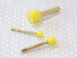3 pinceaux tampon-éponge