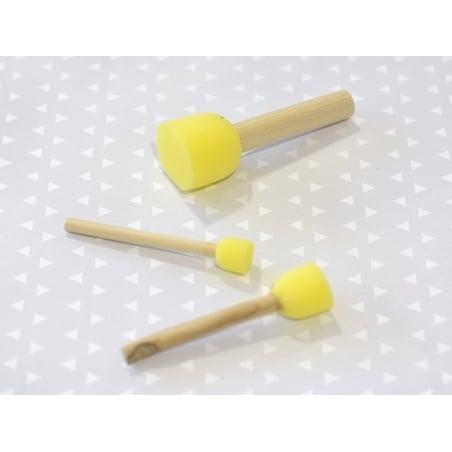 Acheter 3 pinceaux tampon-éponge - 2,39€ en ligne sur La Petite Epicerie - Loisirs créatifs