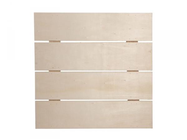 Customisable wood lath frame