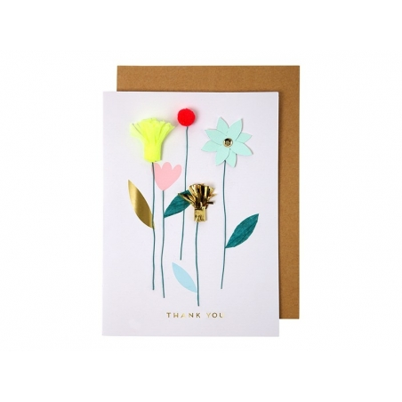 Card with flowers - Thank you