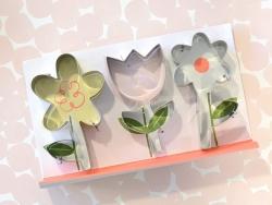 3 emporte-pièces - fleurs