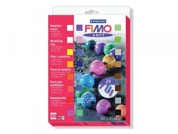 Set of 24 Fimo soft half blocks
