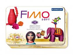 Set mit 24 Fimo-Soft-Halbblöcken
