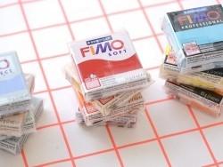 Set mit 9 Fimo-Soft-Halbblöcken + Lack + Zubehör