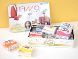 Coffret vintage 12 pains de pâte FIMO SOFT