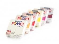 Set of 6 Fimo Soft blocks - Warm colours