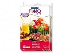 Set of 6 Fimo Soft blocks - Warm colours