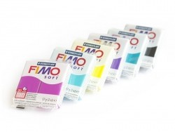 Set of 6 Fimo Soft blocks - Cool colours