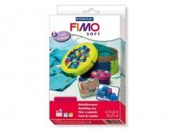 Set mit 6 Fimo-Soft-Blöcken - kalte Farben