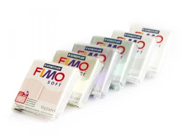 Coffret 6 pains de FIMO soft - couleurs bonbons Fimo - 1