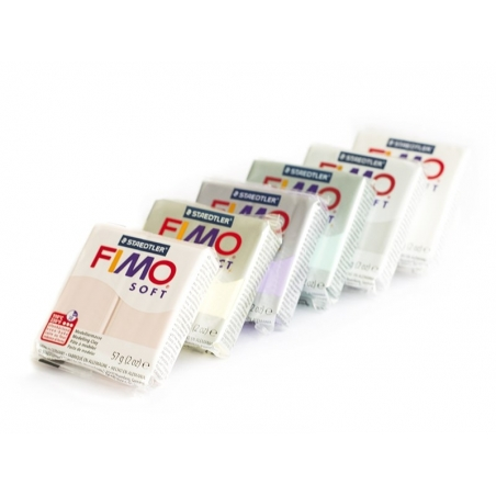 Set of 6 Fimo Soft blocks - Candy colours