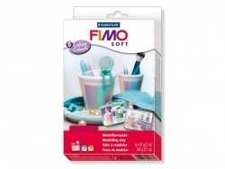 Set mit 6 Fimo-Soft-Blöcken - Bonbonfarben