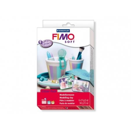 Coffret 6 pains de FIMO soft - couleurs bonbons Fimo - 2