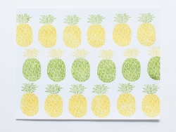 Pineapple stamp + 2 ink pads