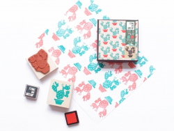 Cactus stamp + 2 ink pads