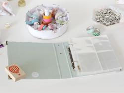 6 in x 8 in album/binder + pockets - Marble