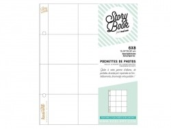 10 page protectors (6 in x 8 in) - 12 compartments