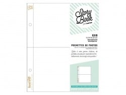 10 page protectors (6 in x 8 in) - 2 compartments