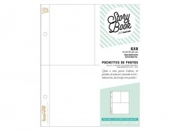 10 page protectors (6 in x 8 in) - 3 compartments