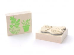 Tampon plantes-  en bois