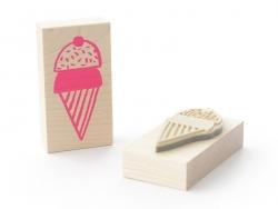 Wooden stamp - Ice-cream