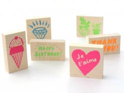 Wooden stamp - Diamond