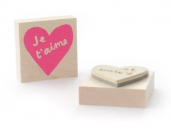 Wooden stamp - Je t'aime