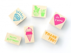 Wooden stamp - Thank you