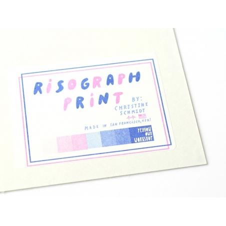 """Acheter Affiche """"La vie est une plage"""" - risographie - 24,90€ en ligne sur La Petite Epicerie - Loisirs créatifs"""