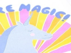 "Affiche licorne ""Magic"" - risographie"