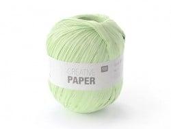 """Laine à tricoter """"Creative paper"""" - Vert amande"""