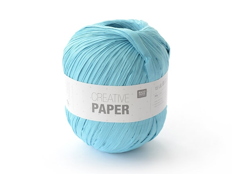 "Paper yarn - ""Creative paper"" - turquoise"
