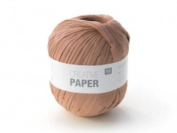 """Laine à tricoter """"Creative paper"""" - Marron"""