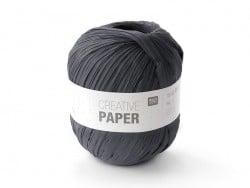 """Laine à tricoter """"Creative paper"""" - Noir"""