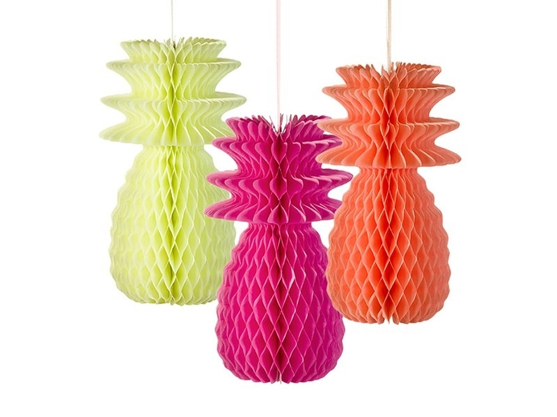3 ananas alvéolés - fluo Talking tables - 1
