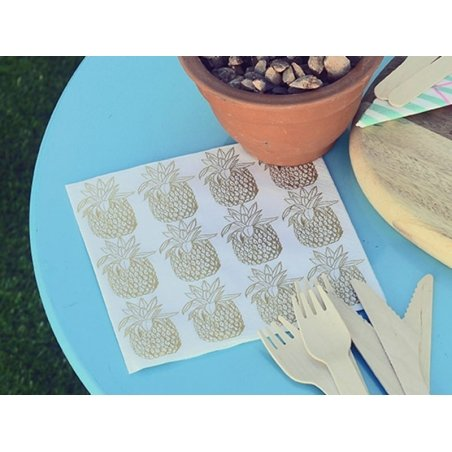 20 serviettes papier - ananas