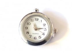 Cadran de montre simple 2,2cm - argenté