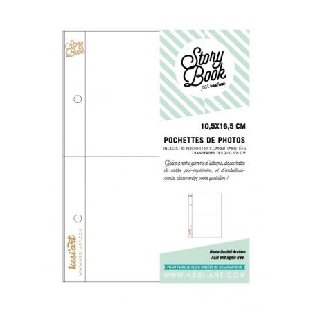Acheter 10 pochettes pour photos 10,5*16,5 - 2 compartiments - 4,90€ en ligne sur La Petite Epicerie - Loisirs créatifs