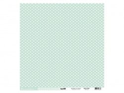 Feuille de scrapbooking - Cardstocks vert d'eau Kesi art - 1